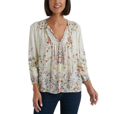 Lucky Brand Women's Julie Pintuck Top