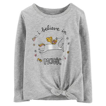 Carters Toddler Girls' Front Knot Believe Tee