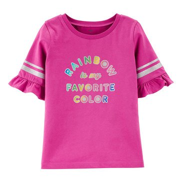 Carter's Little Girls' Rainbow Is My Favorite Color Tee