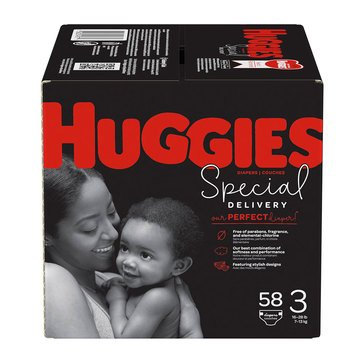 Huggies Special Delivery Hypoallergenic Giga Jr. Pack 58-Count Diapers Pack, Size 3