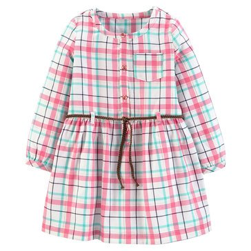 Carters Toddler Girls' Plaid Button Up Dress