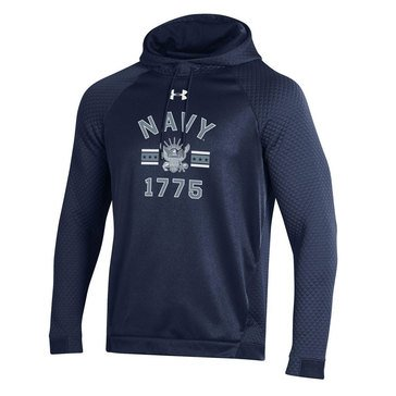 Under Armour Mens Navy Eagle 1775 Fleece Hoodie