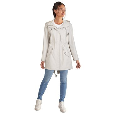Kenneth Cole Women's Poly Bonded Anorak High Low with Hood