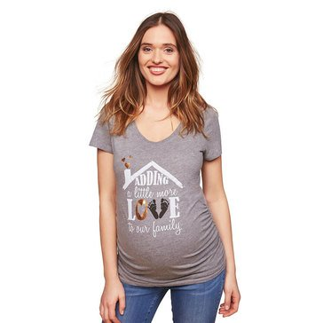 Motherhood Maternity Adding A Little Love Graphic Tee