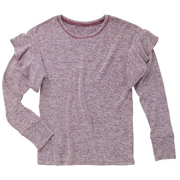 Liberty & Valor Little Girls' Ruffle Cozy Top
