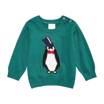 First Impressions Baby Boys' Penguin Holiday Sweater