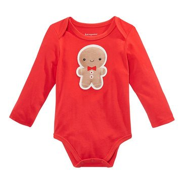First Impressions Baby Gingerbread Holiday Bodysuit