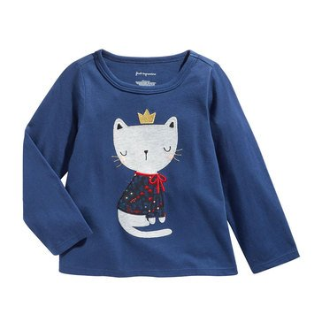 First Impressions Baby Girls' Winter Floral Cat Tee
