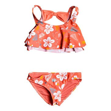 Roxy Little Girls' Fruity Shake Flutter 2-Piece Swimsuit