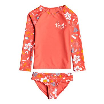 Roxy Little Girls' Fruity Shake Lycra 2-Piece Swimsuit