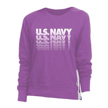 Soffe Women's USN Gradient Repeat Side Zip Crew