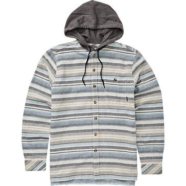 Men's Billagong Baja Flannel Plaid Woven Hoodie