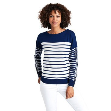 Vineyard Vines Women's Mixed Striped Merino Sweater