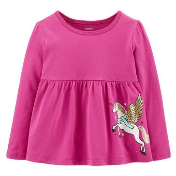 Carters Toddler Girls' Baby Doll Unicorn Tee