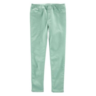 Carters Little Girls' Front Button Pocket Pants