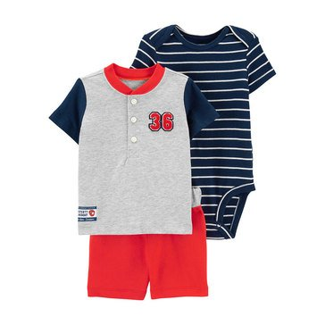 Carters Baby Boys' 3 Piece Short Set