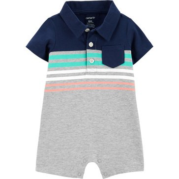 Carters Baby Boys' Stripe Polo Romper