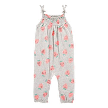 Carter's Baby Girls' Strawberry Jersey Jumpsuit
