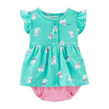 Carters Baby Girls' Dogs Sunsuit