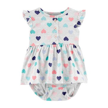 Carters Baby Girls' Hearts Sunsuit