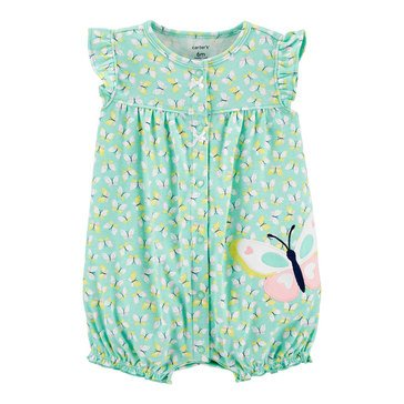 Carters Baby Girls' Butterfly Snap Up Romper