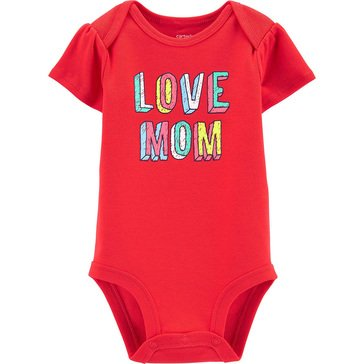 Carters Baby Girls' Love Mom Bodysuit