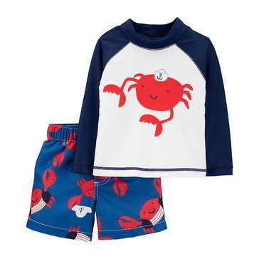 Carters Baby Boys' 2 Piece Crab Swimwear Set