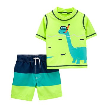 Carters Baby Boys' 2-Piece Dino Swimwear Set