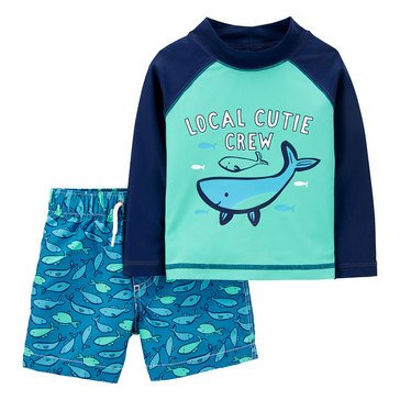 Carters Baby Boys' 2-Piece Sea Life Whale Swimwear Set