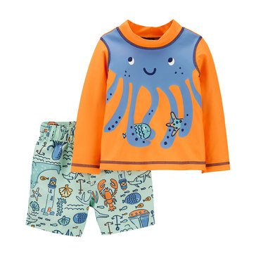 Carters Baby Boys' 2-Piece Sea Life Octopus Swimwear Set