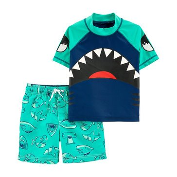 Carters Baby Boys' 2-Piece Sea Life Shark Swimwear Set