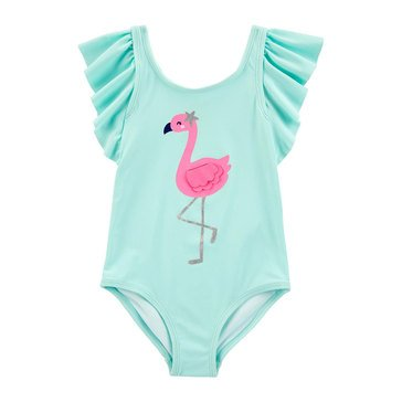 Carters Baby Girls' 1 Piece Flamingo Swimsuit