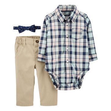 Carter's Baby Boys' Blue Plaid Dress Me Up 3-Piece Set