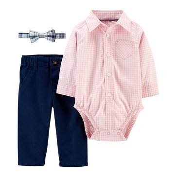 Carter's Baby Boys' Plaid Dress Me Up 3-Piece Set