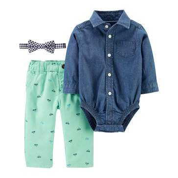 Carter's Baby Boys' Chambray Dress Me Up 3-Piece Set