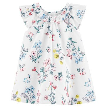 Carter's Baby Girls' Floral Sateen Dress