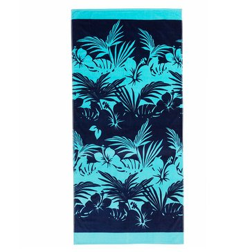 Harbor Home Print Hibiscus Beach Towel