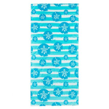 Harbor Home Print Sand Dollar Stripe Beach Towel