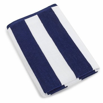 Harbor Home Cabana Navy Stripe Beach Towel