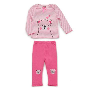 Baby Girl Long Sleeve Knit Top and Pant Set