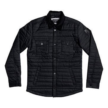 Quiksilver Men's Broken Nose Quilted Snap Jacket