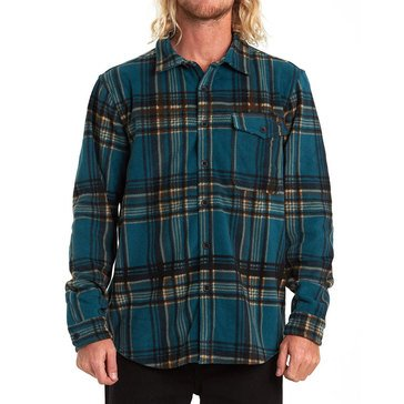 Billabong Men's Furnace Polar Fleece Flannel Shirt