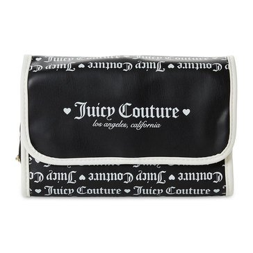 Juicy Couture Black & White Hanging Beauty Case