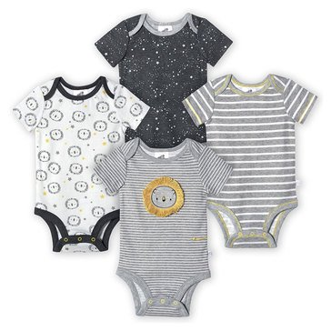 Just Born® Organic Dino Bodysuit 4pk