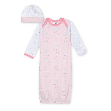 Just Born® Organic Lamb Gown With Cap