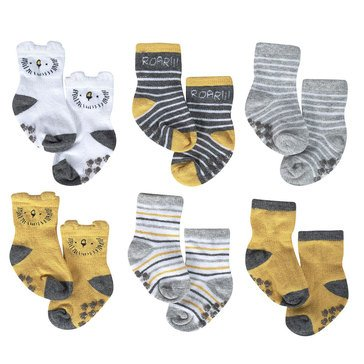 Just Born® Organic Dino 6-Pack Socks