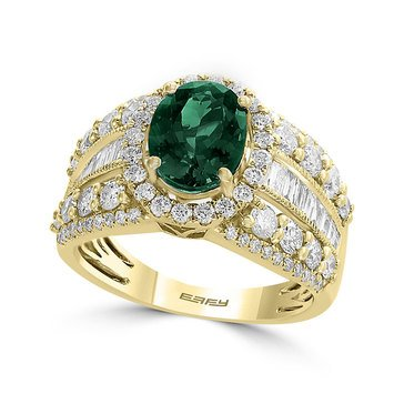 Effy 14K 2 cttw Tgw Emerald & Diamond Ring