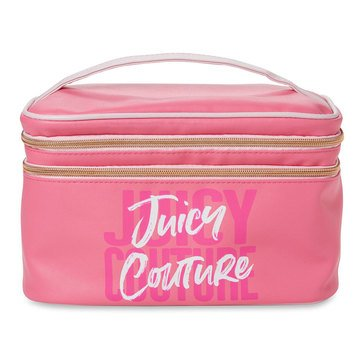 Juicy Couture Pink Double Zip Train Case