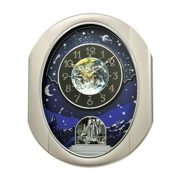 Rhythm USA Peaceful Cosmos II Magic Motion Clock