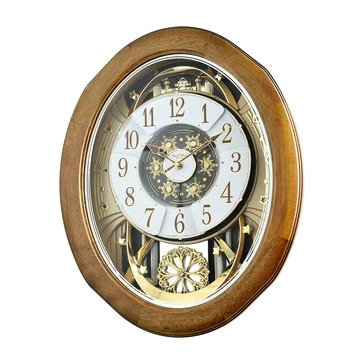 Rhythm USA Joyful Anthology Solid Walnut Frame Clock